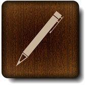 Pen-pictogram — Stockvector