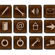 Royalty-Free Stock Photo: Web icons rastr version
