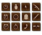 Spel iconen set — Stockvector