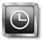 Stali zegar stawić czoło — Wektor stockowy
