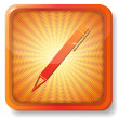 Orange pen icon — Stock Vector #12759579