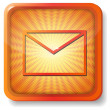 Orange envelope icon — Vector de stock