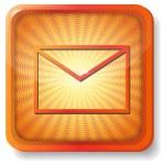 Orange envelope icon — Stock Vector