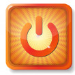 Orange power off icon — Stock Vector