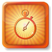 Orange stopwatch icon — Stock Vector