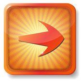 Orange arrow icon — Stock Vector