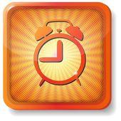 Icono de alarma naranja — Vector de stock