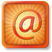 Oranje e-mailpictogram — Stockvector
