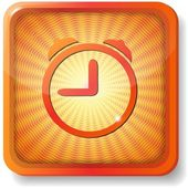 Orange alarm clock icon — Stock Vector