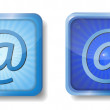 Stock Vector: Blue radial e-mail icon