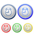 Vector de stock : Circle alarm icon