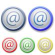 Circle e-mail icon — Stock Vector