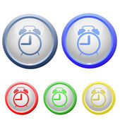 иконка круг будильник — Cтоковый вектор