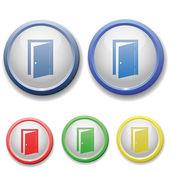 Circle exit door icon — Stock Vector