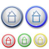Kruhu domova ikony — Stock vektor