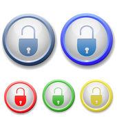 Icône de cadenas ouvert cercle — Vecteur
