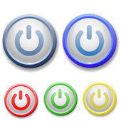 Circle power off icon — Stock Vector