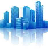City background — Stock Vector