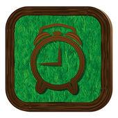 Icono de la alarma de árboles y hierbas — Vector de stock