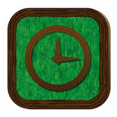Tree-herbal clock face icon — Cтоковый вектор