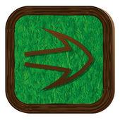 Tree-herbal arrow icon — Stock Vector