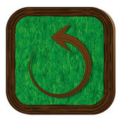 Tree-herbal refresh icon — ストックベクタ