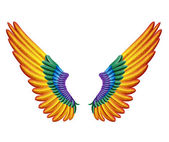 Color wings — Vector de stock