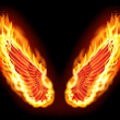 Fire wings — Stock Photo #16368805