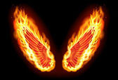 Fire wings — Stock Photo