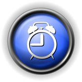 Glas-wecker-symbol — Stockvektor