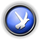 Cam güvercin simgesi — Stok Vektör