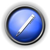 ガラスのペン アイコン — ストックベクタ