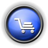 Glass shopping cart icon — Stock Vector