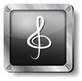 Steel clef icon — Stock Vector