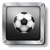 Steel soccer-ball icon — Stock Vector
