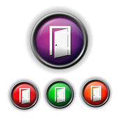Exit door icon — Stock Vector