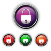 Open lock icon — Stock Vector