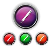 Icono de pluma — Vector de stock