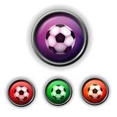 Soccer-ball icon — Stock Vector