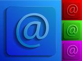E-mail monochrome symbole — Stockvektor