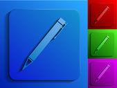 ручка монохромные значки — Cтоковый вектор