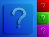 Otázka černobílé ikony — Stock vektor