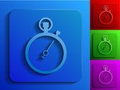 Stopwatch monochrome icons — Stock Vector
