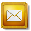 Golden envelope icon — Stock Vector