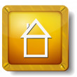 Golden home icon — Stock Vector