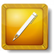 Stock Vector: Golden pen icon