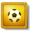 Golden soccer-ball icon — Stock Vector