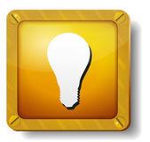 Golden bulb icon — Stock Vector