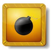 Golden bomb icon — Stock Vector