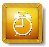 Golden alarm icon — Stock Vector